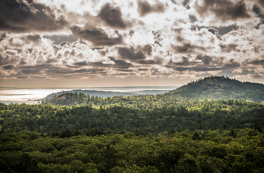 Views of the Harlow Lake area from atop Top of the World lookout near Marquette, Michigan.