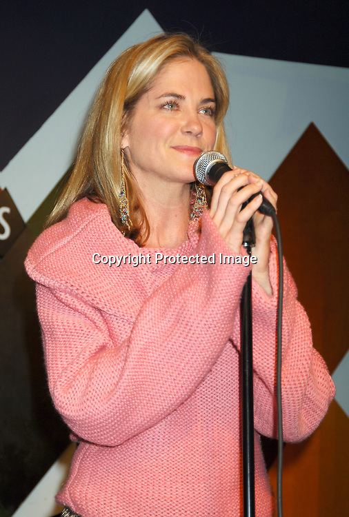 Kassie DePaiva singing ..at The Launch of the One Life, Many Voices CD, ..which is a 26 Track compilation CD,comprised of original ..material, covers and spoken word. It was produced and sung by actors who star on One Life To Live and will  benefit Hurricane Relief. The event was on January 11, 2006 at Caroline's Comedy Club...Photo by Robin Platzer, Twin Images