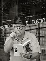 Bob Holman, 2005.  Poet, poetry activist, founder, Bowery Poetry Club.