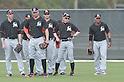 Christian Yelich, Giancarlo Stanton, Ichiro Suzuki (Marlins),<br /> FEBRUARY 24, 2014 - MLB :<br /> Miami Marlins spring training camp in Jupiter, Florida, United States. (Photo by AFLO)