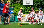 Players in action during the Hong Kong Junior Australian Football League Round 1 at the Kowloon Cricket Club on 02 June 2013 in Hong Kong, China. Photo by Emeline Hui / The Power of Sport Images