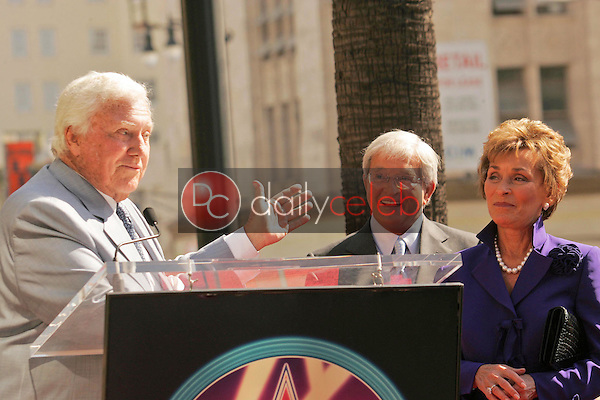 Merv Griffin with Judge Jerry Sheindlin and Judge Judy Sheindlin<br />at the Ceremony honoring Judge Judy Sheindlin with a star on the Hollywood Walk of Fame. Hollywood Boulevard, Hollywood, CA. 02-14-06