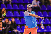 Rotterdam, Netherlands, December 15, 2017, Topsportcentrum, Ned. Loterij NK Tennis, Boy Westerhof (NED)<br /> Photo: Tennisimages/Henk Koster