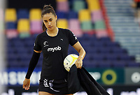 07.10.2018 Silver Ferns Maria Folau warms up prior to the Silver Ferns v Australia netball test match at the Brisbane Entertainment Centre in Brisbane. Mandatory Photo Credit ©Michael Bradley.