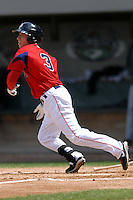 Infielder Nate Spears #3 of the Pawtucket Red Sox during a game versus the Syracuse Chiefs on April 21, 2011 at McCoy Stadium in Pawtucket, Rhode Island. Photo by Ken Babbitt /Four Seam Images