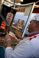 Chicken doner kebab, Istanbul, Turkey
