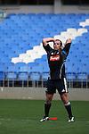 Anton Oliver. All Blacks training. 19 July 2007