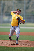 Pittsburgh Pirates pitcher Billy Roth (75) during an instructional league intrasquad black and gold game on September 23, 2015 at Pirate City in Bradenton, Florida.  (Mike Janes/Four Seam Images)