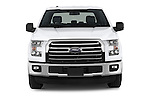 Car photography straight front view of a 2015 Ford F-150 XLT SuperCrew 145-in Door Pickup Front View