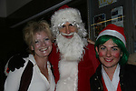 Ellen Dolan on ATWT as Margo Hughes and was on Guiding Light as Maureen Reardon Bauer poses with Santa and Elf  - The Workshop Theater Company presents Cold Snaps December 9 through December 19, 2009 at the Jewel Box Theatre, New York City, New York - Nine Short Plays to Warm the Warm December Night. (Photo by Sue Coflin/Max Photos)