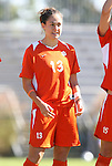 26 October 2008: Clemson's Katie Vogel. The Duke University Blue Devils defeated the Clemson University Tigers 6-0 at Koskinen Stadium in Durham, North Carolina in an NCAA Division I Women's college soccer game.