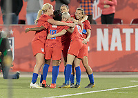 Commerce City, CO - Thursday April 04, 2019: The women's national teams of the United States (USA) and Australia (AUS) play in an international friendly match at Dick's Sporting Goods Park.