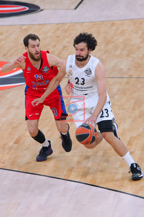 Turkish Airlines Euroleague.<br /> Final Four - Vitoria-Gasteiz 2019.<br /> Semifinals.<br /> CSKA Moscow vs Real Madrid: 95-90.<br /> Sergio Rodriguez vs Sergio Llull.