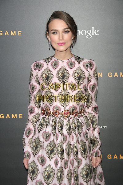 NEW YORK, NY - NOVEMBER 17: Keira Knightley at the US premiere of The Imitation Game presented by The Weinstein Company at the Ziegfeld Theatre in New York City on November 17, 2014. <br /> CAP/MPI/RW<br /> &copy;RW/MPI/Capital Pictures