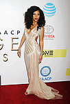 PASADENA, CA - FEBRUARY 11: Actress Teyonah Parris arrives at the 48th NAACP Image Awards at Pasadena Civic Auditorium on February 11, 2017 in Pasadena, California.