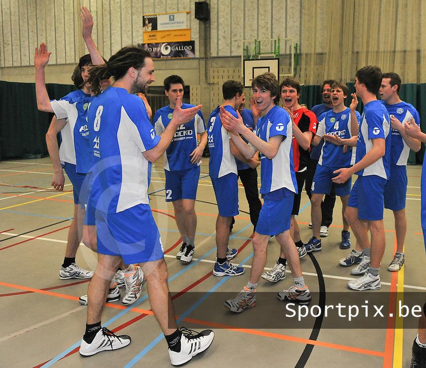 Volley Packo Zedelgem kampioen.foto VDB / BART VANDENBROUCKE