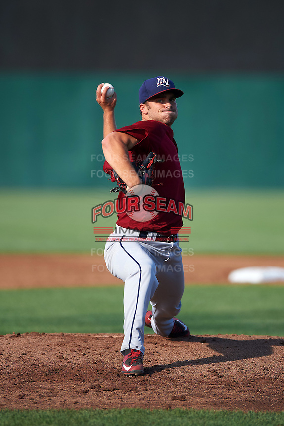 Mahoning Valley Scrappers relief pitcher Tanner Tully (29) during a game against the Auburn Doubledays on July 17, 2016 at Falcon Park in Auburn, New York.  Mahoning Valley defeated Auburn 3-2.  (Mike Janes/Four Seam Images)
