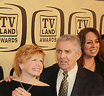 "One Day At A Time - Bonnie Franklin, Pat Harrington, Mackenzie Phillips honored with Innovator Award at the 10th Anniversary of the TV Land Awards on April 14, 2012 to honor shows ""Murphy Brown"", ""Laverne & Shirley"", ""Pee-Wee's Playhouse"", ""In Loving Color"" and ""One Day At A Time"" and Aretha Franklin at the Lexington Armory, New York City, New York. (Photo by Sue Coflin/Max Photos)"