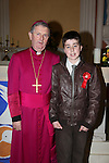 Confirmation in Donore Church..Anthony Geough and Bishop Smyth..Photo: Fran Caffrey/www.newsfile.ie...