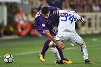 Gil Dias Fiorentina, Lucas Torreira Sampdoria <br /> Firenze 27-08-2017 Stadio Artemio Franchi Calcio Serie A Fiorentina - Sampdoria Foto Andrea Staccioli / Insidefoto