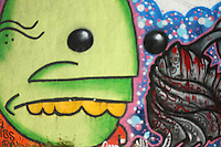 Amazing graffiti in wynwood walls , miami one of the hippest neighborhoods in the country