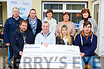 The family of the Michael Griffin presents the proceeds of a coffee morning they held in December to Pieta House in Killorglin Family Resource Centre on Monday front row l-r: Michael Griffin, Kieran O'Browne Pieta House, Pauline Dunlea, Keelan Griffin. Back row Con O'Connor Pieta House, Theresa Griffin, Kathleen Morris, Margaret Wrenn and Margaret Mangan