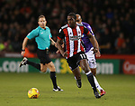 Clayton Donaldson of Sheffield Utd  pushes forward during the Championship match at Bramall Lane Stadium, Sheffield. Picture date 30th December 2017. Picture credit should read: Simon Bellis/Sportimage