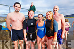 Taking part in the Aidan Walsh Memorial New Years Day Swim in Knightstown on Tuesday were l-r; Tadhg Lyne, Aisling O'Shea, Caoimhe O'Shea, Clíodhne Guiney & Alann O'Sullivan.