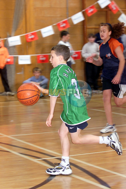 Alex reilly taking part in the basketball camp in the Sacred Heart School sponsored by Drogheda Concentrates..Picture Fran Caffrey Newsfile...This Picture is sent to you by:..Newsfile Ltd.The View, Millmount Abbey, Drogheda, Co Louth, Ireland..Tel: +353419871240.Fax: +353419871260.GSM: +353862500958.ISDN: +353419871010.email: pictures@newsfile.ie.www.newsfile.ie