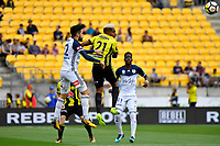Wellington Phoenix&rsquo; Roy Krishna and Melbourne Victory&rsquo;s Stefan Nigro in action during the A League - Wellington Phoenix v Melbourne Victory FC at Westpac Stadium, Wellington, New Zealand on Sunday 3 December.<br /> Photo by Masanori Udagawa. <br /> www.photowellington.photoshelter.com