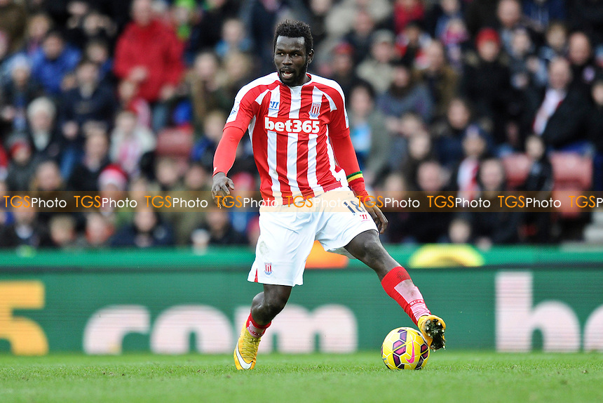 Mame Biram Diouf of Stoke City - Stoke City vs Manchester United - Barclays Premier League Football at the Britannia Stadium, Stoke-on-Trent - 01/01/15 - MANDATORY CREDIT: Greig Bertram/TGSPHOTO - Self billing applies where appropriate - contact@tgsphoto.co.uk - NO UNPAID USE