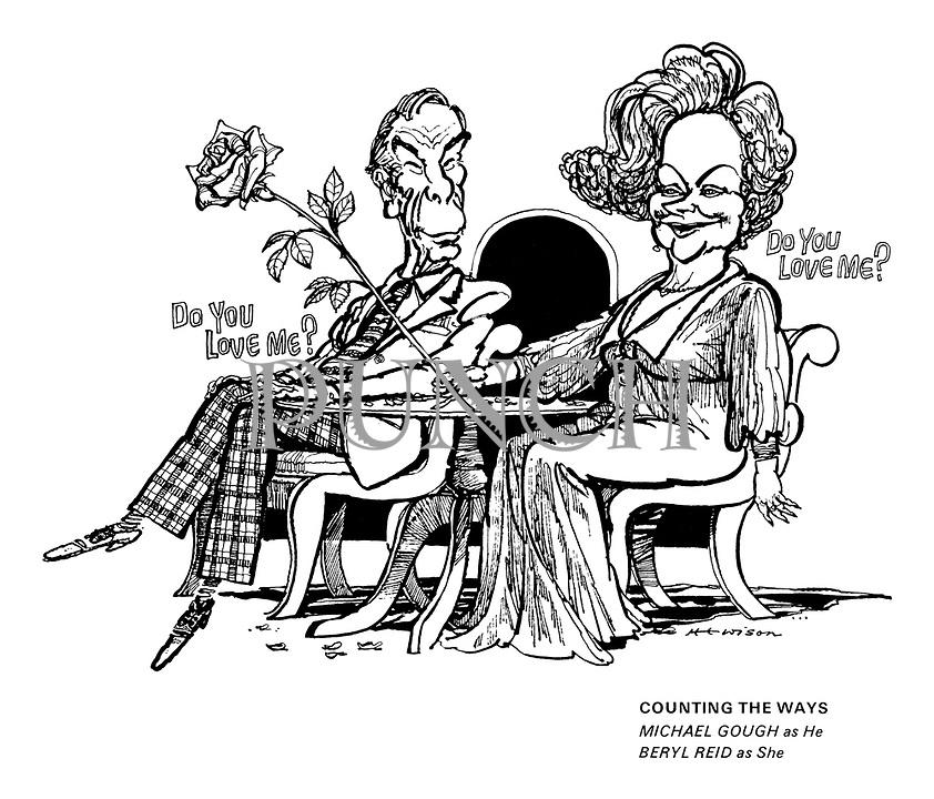 Counting the Ways. Michael Gough as He, Beryl Reid as She.