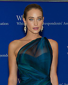 Hannah Davis arrives for the 2015 White House Correspondents Association Annual Dinner at the Washington Hilton Hotel on Saturday, April 25, 2015.<br /> Credit: Ron Sachs / CNP