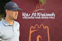 Niklas Lemke (SWE) during the first round of the Ras Al Khaimah Challenge Tour Grand Final played at Al Hamra Golf Club, Ras Al Khaimah, UAE. 31/10/2018<br />