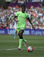 Kelechi Iheanacho of Manchester City during the Swansea City FC v Manchester City Premier League game at the Liberty Stadium, Swansea, Wales, UK, Sunday 15 May 2016
