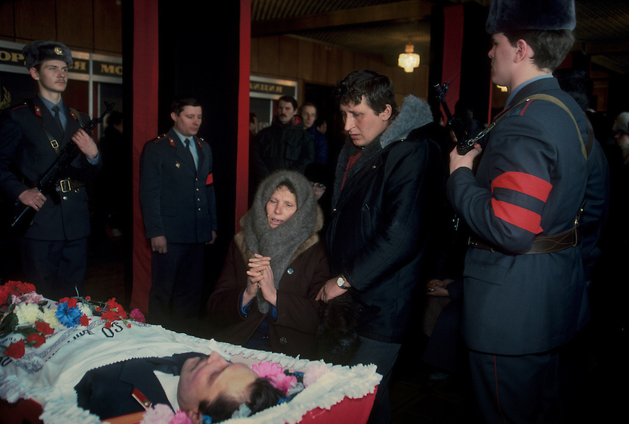 Moscow, Russia, 1994..Funeral of militia officer killed in gang-land style shoot out.