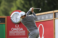 Richard Sterne (RSA) tees off the 16th tee during Sunday's Final Round of the 2017 Omega European Masters held at Golf Club Crans-Sur-Sierre, Crans Montana, Switzerland. 10th September 2017.<br /> Picture: Eoin Clarke | Golffile<br /> <br /> <br /> All photos usage must carry mandatory copyright credit (&copy; Golffile | Eoin Clarke)