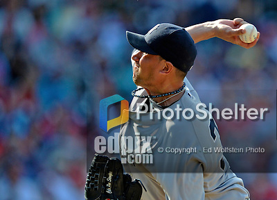 16 June 2012: New York Yankees pitcher Freddy Garcia on the mound against the Washington Nationals at Nationals Park in Washington, DC. The Yankees defeated the Nationals in 14 innings by a score of 5-3, taking the second game of their 3-game series. Mandatory Credit: Ed Wolfstein Photo