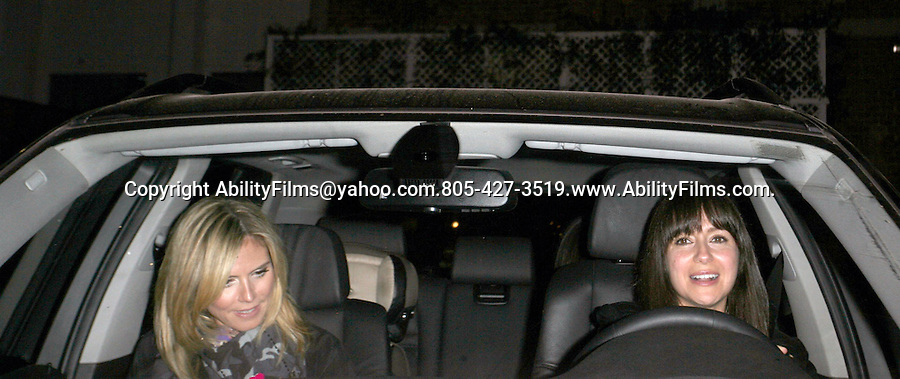 .March 16th 2012 ..Heidi Klum leaving Mr.Chow restaurant in Beverly Hillls with Sandra Bullock  ..AbilityFilms@yahoo.com.805-427-3519.www.AbilityFilms.com.
