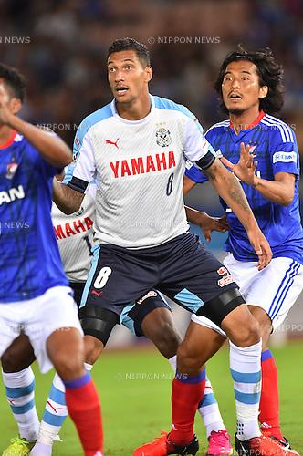 Jay (Jubilo), Yuji Nakazawa (F Marinos),<br /> JULY 23, 2016 - Football / Soccer :<br /> 2016 J1 League 2nd stage match between Yokohama F Marinos 1-1 Jubilo Iwata at Nissan Stadium in Kanagawa, Japan. (Photo by AFLO)
