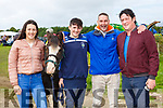 Nicole Moriaty, Barry Moriarty Killorglin, Chris Clifford Glenbeigh and Ciaran Moriarty Killorglin with Sunshine at the Treashing for Cancer in Beaufort on Sunday