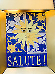 Salute Restaurant Sign, Italian Restaurant, New York, New York