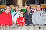 Pictured at the evening with John Aldridge in Ballyroe on Thursday night, from left: John Bowler, PJ Rowan, Nathan Rowan, Joe Flaherty and Ian Flaherty, all from Tralee.