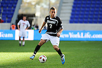 Matt Marcin (7) of the Providence Friars. The Louisville Cardinals defeated the Providence Friars 3-2 in penalty kicks after playing to a 1-1 tie during the finals of the Big East Men's Soccer Championship at Red Bull Arena in Harrison, NJ, on November 14, 2010.