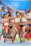 (L to R) <br /> Yuka Takashima, <br /> Hanami Sekine (JPN), <br /> AUGUST 12, 2016 - Athletics : <br /> Women's 10000m Final <br /> at Olympic Stadium <br /> during the Rio 2016 Olympic Games in Rio de Janeiro, Brazil. <br /> (Photo by YUTAKA/AFLO SPORT)
