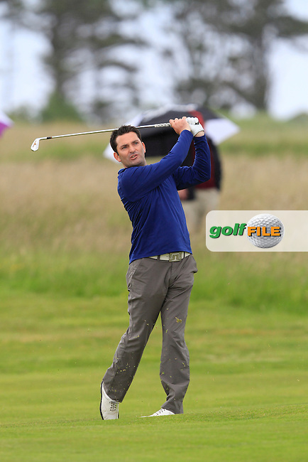 Gary O'Flaherty (Cork) on the 18th during Round 3 of the East of Ireland in the Co. Louth Golf Club at Baltray on Monday 2nd June 2014.<br /> Picture:  Thos Caffrey / www.golffile.ie
