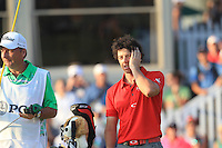 Rory McIlroy (NIR) with caddy J.P.Fitzgerald on the 18th green after winning the tournament with a score of -13 and 8 shots clear of the field at the end of Sunday's Final Round of the 94th PGA Golf Championship at The Ocean Course, Kiawah Island, South Carolina, USA 11th August 2012 (Photo Eoin Clarke/www.golffile.ie)