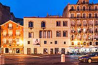 LiSBOA-PORTUGAL, 12.08.2012 - A Casa dos Bicos, também chamada de Brás de Albuquerque. Construída em 1523, é um dos núcleos do Museu de Lisboa. Seu nome faz referência à sua construção, cuja fachada é revestida de pedras em forma de ponta de diamante. (Bete Marques/Brazil Photo Press)