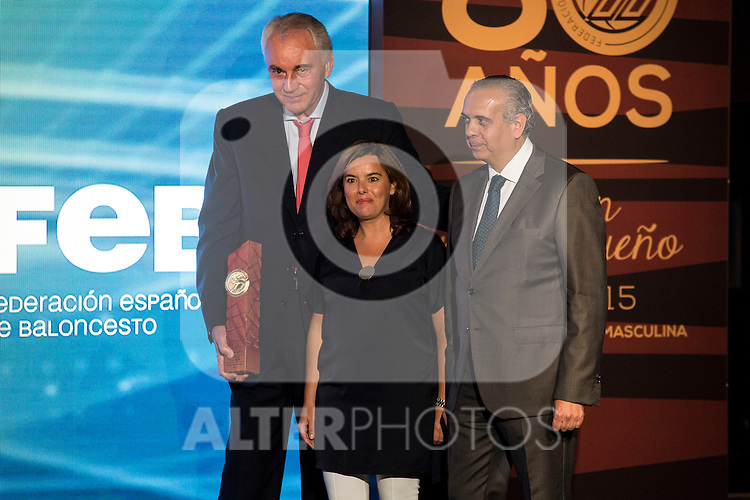 Clifford Luyk during the 80th Aniversary of the National Basketball Team at Melia Castilla Hotel, Spain, September 01, 2015. <br /> (ALTERPHOTOS/BorjaB.Hojas)