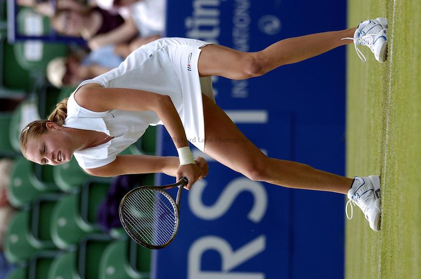 Photo: Richard Lane..Hastings Direct International Championship at Eastbourne. 15/06/2004..Elena Bovina of Russia.